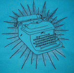 blue-typewriter